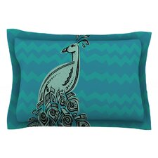 Peacock Blue II by Brienne Jepkema Green Cotton Pillow Sham