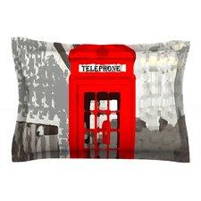London by Oriana Cordero Red Cotton Pillow Sham