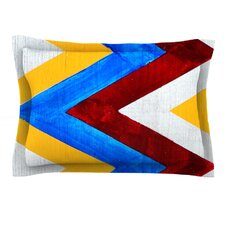 Zig Zag by Brit y Guarino Cotton Pillow Sham