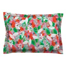 Flying Tulips by Akwaflorell Cotton Pillow Sham, Green