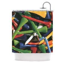 Tee'd Off by Heidi Jennings Shower Curtain