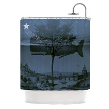 Whale Watch by Suzanne Carter Illustration Shower Curtain
