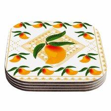 Fresh Farm Mangoes Peach Coaster (Set of 4)