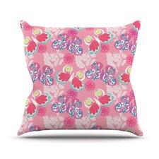 Baroque Butterflies Throw Pillow