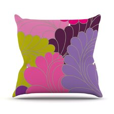 Moroccan Leaves by Nicole Ketchum Throw Pillow