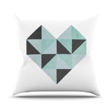 Geo Heart Throw Pillow