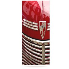 Chevy by Ingrid Beddoes Photographic Print Plaque in Red and Silver