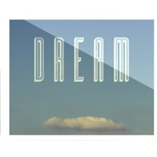 Dream Print by Anna Farath Textual Art Plaque