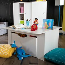 Storit Kids Activity Table with Toy Box on Wheels