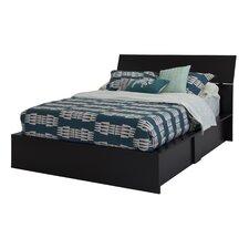 Step One Storage Platform Bed with Headboard