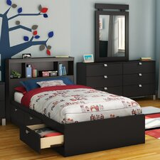 Spark Twin Mate's Bed with Drawers and Bookcase Headboard