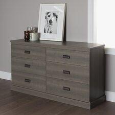 Gloria 6 Drawer Double Dresser