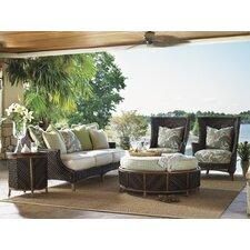 Island Estate Lanai 5 Piece Deep Seating Group with Cushions