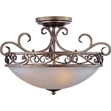 Hampton 3-Light Semi-Flush Mount