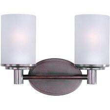 Cylinder 2-Light Bath Vanity