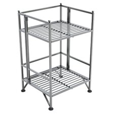 2 Tier Folding Shelf 20.5'' Accent Shelves