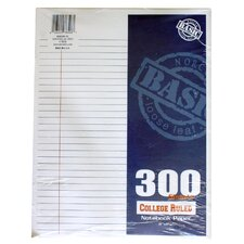 300 Count College Ruled Filler Paper