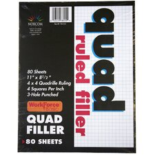 80 Count Quad Ruled Filler Paper