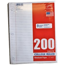 200 Count College Ruled Looseleaf Paper (Set of 24)