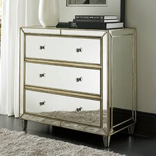 Hidden Treasures Mirror 3 Drawer Chest