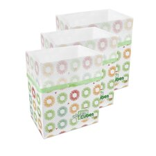 Party Pattern 10 Gallon Recycling Waste Basket (Set of 3)