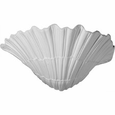 """Shell 6 5/8""""H x 11 3/8""""W x 7 1/8""""D Wall Sconce"""