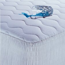 200 Thread Count Cotton Waterproof Mattress Pad with Antimicrobial Fill