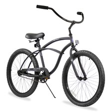 "Men's Firmstrong Urban 24"" Single Speed Beach Cruiser Bicycle"