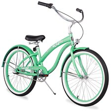 "Women's Firmstrong Bella Classic 24"" Three Speed Beach Cruiser Bicycle"