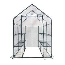 Deluxe Walk in 6 Tier 4.5 Ft. W x 4.5 Ft. D Plastic Greenhouse