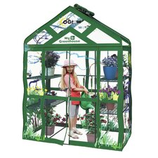 OGrow My First Walk In 3 Tier Kids 4.5 Ft. W x 2.5 Ft. D Plastic Greenhouse