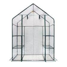 Deluxe Walk in 3 Tier 4.5 Ft. W x 2.5 Ft. D Plastic Greenhouse