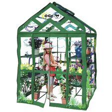 My First Walk In 3 Tier Kids 4.5 Ft. W x 4.5 Ft. D Plastic Greenhouse