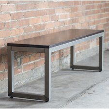 Loft Wood/Metal Dining Bench