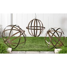 3 Piece Ball Decorations Trellis Set