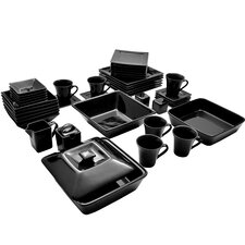 Nova 45 Piece Square Dinnerware Set