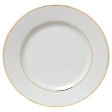 """Gold Double Line 10.25"""" Dinner Plate"""