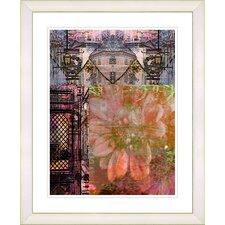 """Bustle - Orange"" by Zhee Singer Framed Fine Art Giclee Painting Print"
