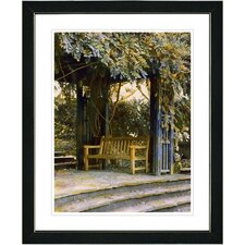 """Garden Bench"" by Mia Singer Framed Fine Art Giclee Photographic Print"