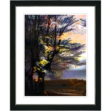 """Evening Foliage"" by Zhee Singer Framed Fine Art Giclee Painting Print"