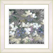 """Snowdrop Bells Flowers"" by Zhee Singer Framed Fine Art Giclee Painting Print"