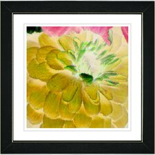 """Yellow Dahlia"" by Zhee Singer Framed Fine Art Giclee Painting Print"