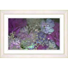 """Purple Scented Bloom"" by Zhee Singer Framed Fine Art Giclee Painting Print"