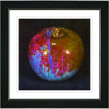 """""""Red Magic Apple"""" by Zhee Singer Framed Fine Art Giclee Painting Print"""
