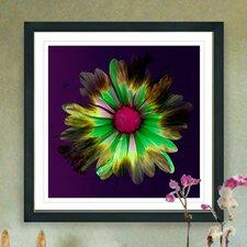 """Fire Flower"" by Zhee Singer Framed Fine Art Giclee Painting Print"