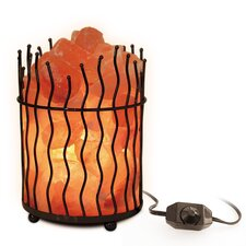 "Himalayan Light 7.87"" H Table Lamp with Novelty Shade"