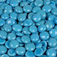5 lbs of  Glass Gems in Electric Sky Blue