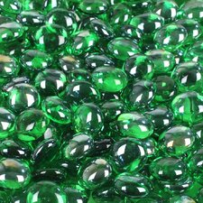 5 lbs of  Glass Gems in Green