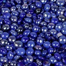 5 lbs of  Glass Gems in Opal Dark Blue