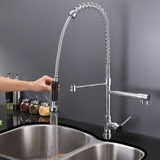 Alori Single Handle Kitchen Faucet with Pre-Rinse Spray and Soap Dispenser